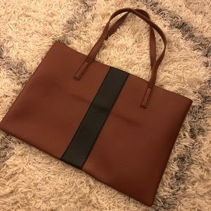 VINCE CAMUTO BROWN BLACK LUCK TOTE